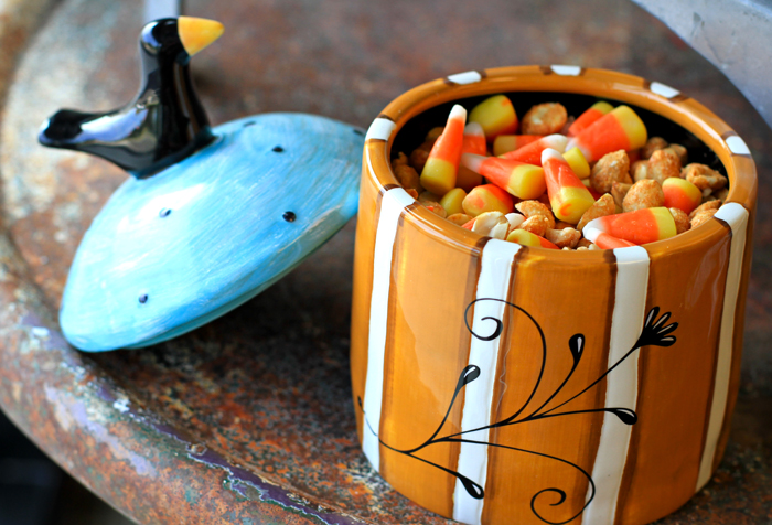 Fall candy corn peanut treat mix