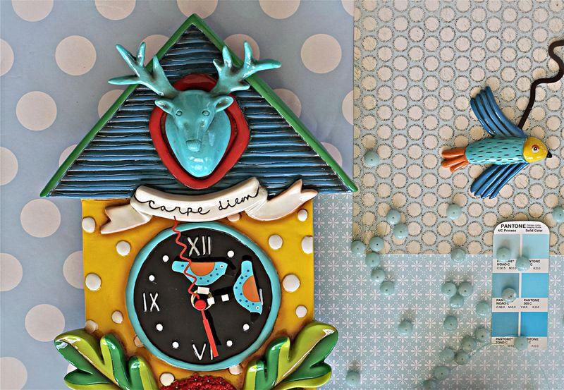 Carpe diem whimsical clock