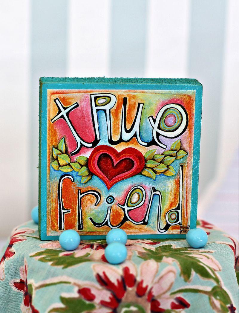 True friend gift art colorful