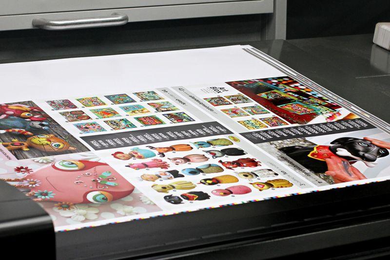 Press check brown printing