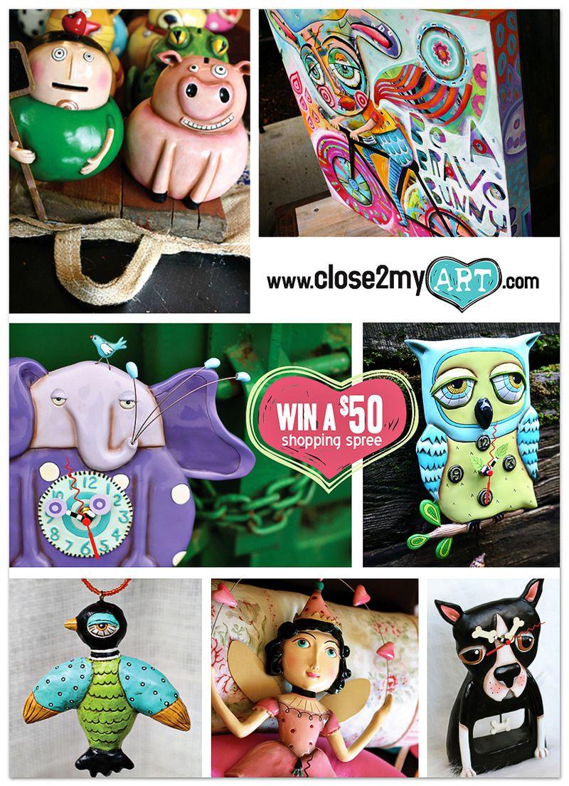 Close2myart giveaway allen designs