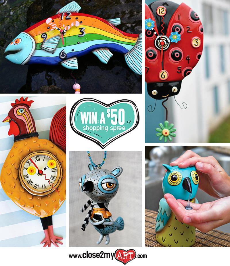 Allen designs clocks giveaway