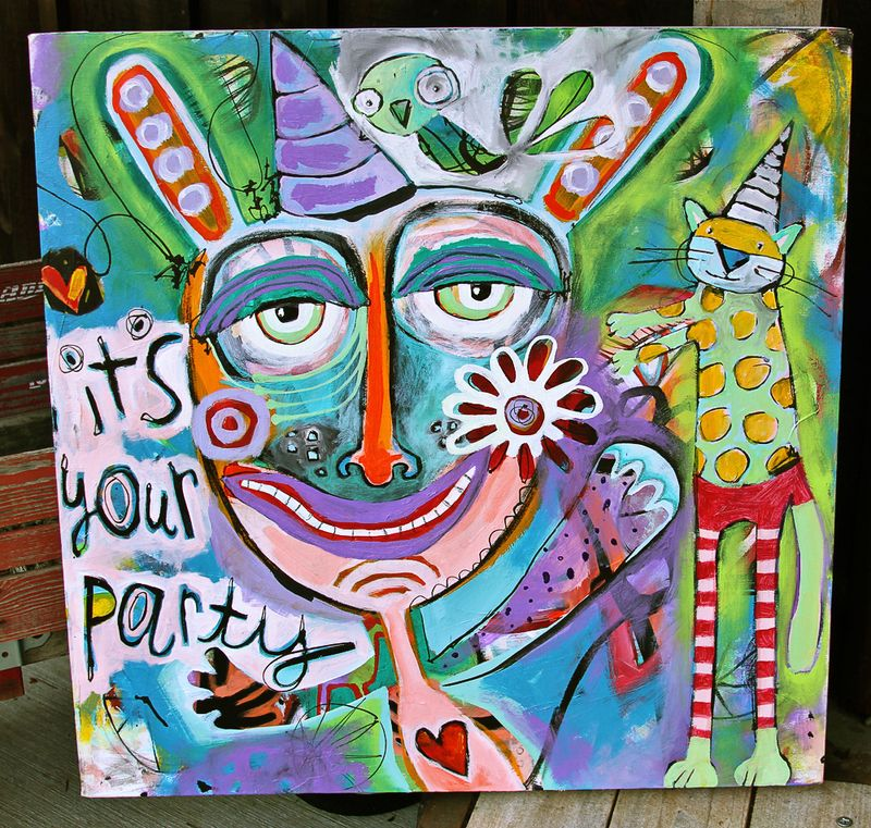 Party whimsical painting