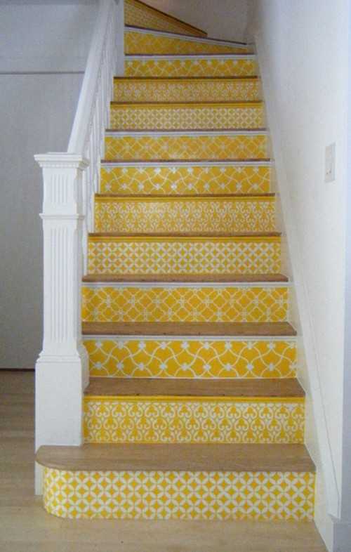 Stenciled stairs