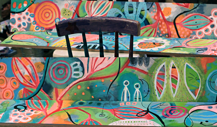Original colorful creative painting