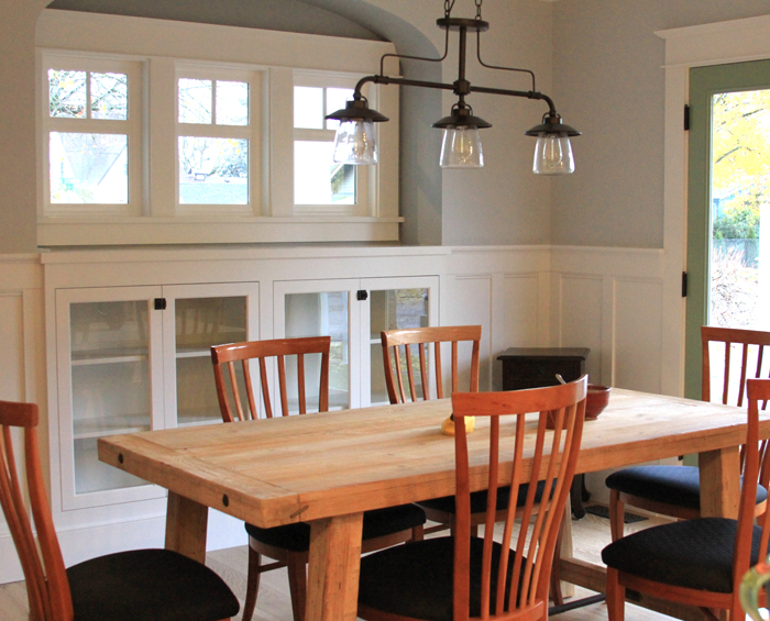 Dining room remodel old house style