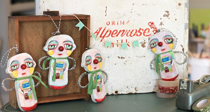 Alpenrose dairy box handmade ornaments