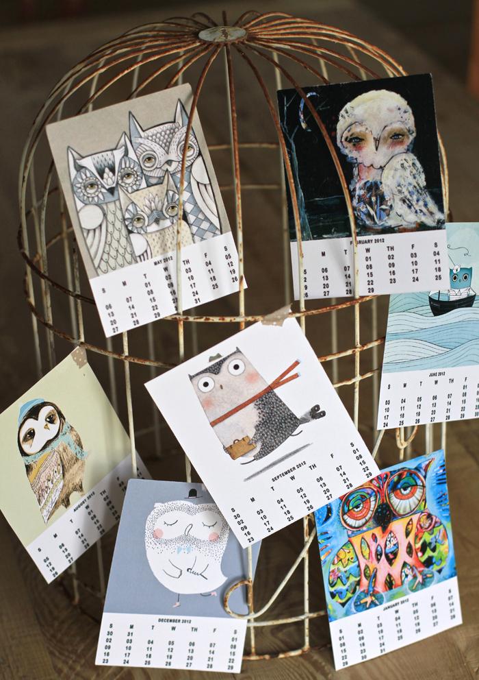 Owl lover calendar michelle allen artist