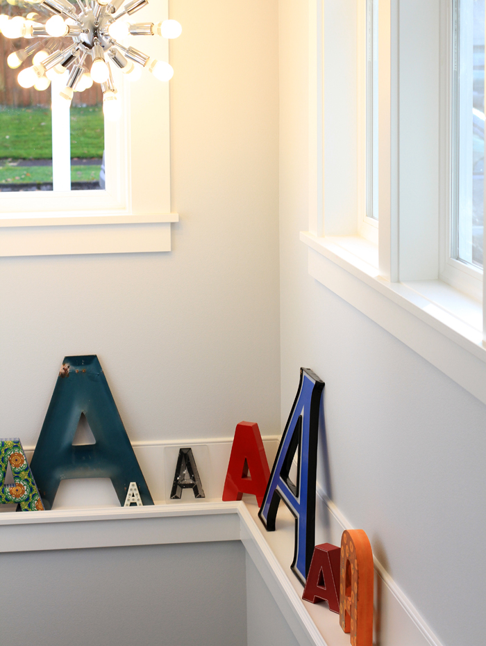 Letter A wall art decorating
