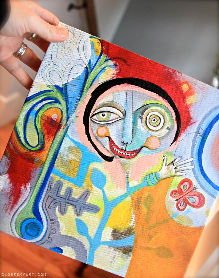 Michelle allen artist painting original colorful art