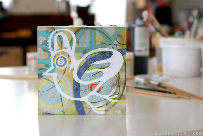 Bird painting michelle allen art original colorful