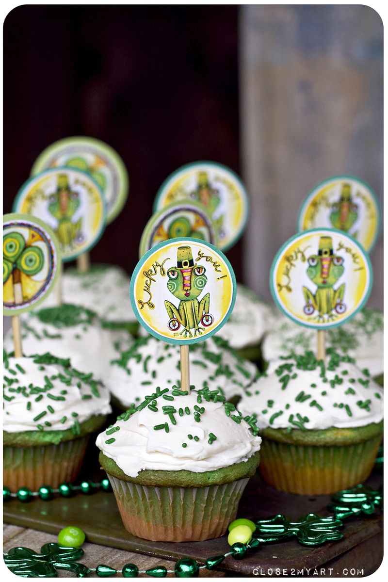 Lucky you cupcakes st. patricks day