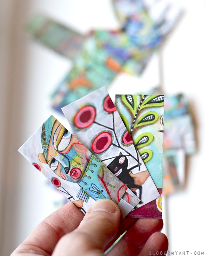 Moo cards funky artsy michelle allen