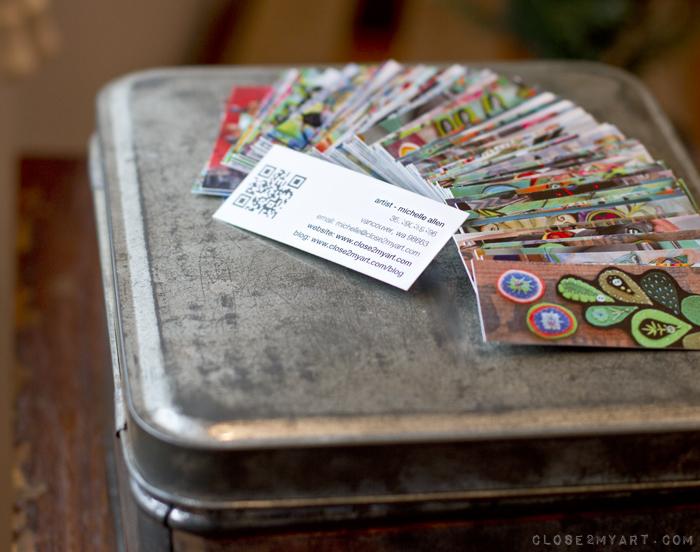 Moo cards allen designs qr code artist