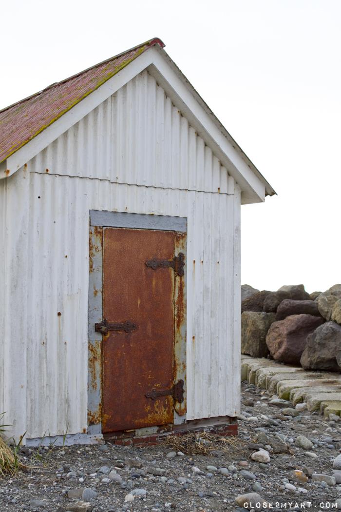 Rusty door beach port townsend