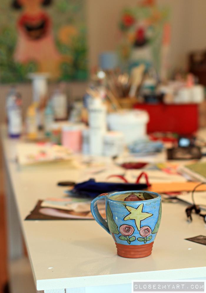 Artist michelle allen art studio