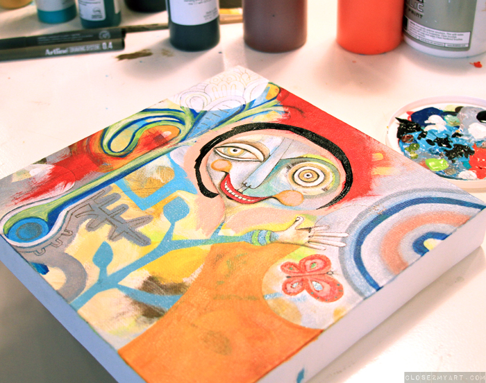 Michelle allen artist original art painting