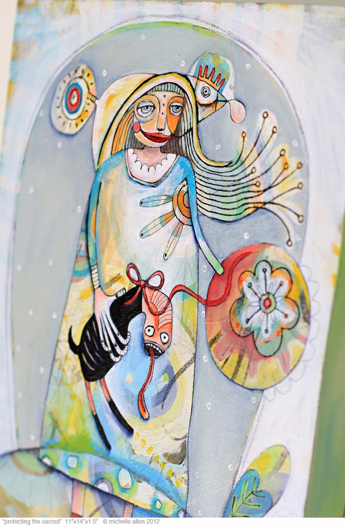 Artist gallery painting michelle allen funky art