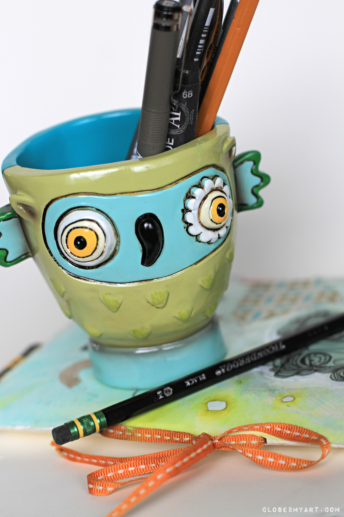 Allen designs pen pencil cup gift art