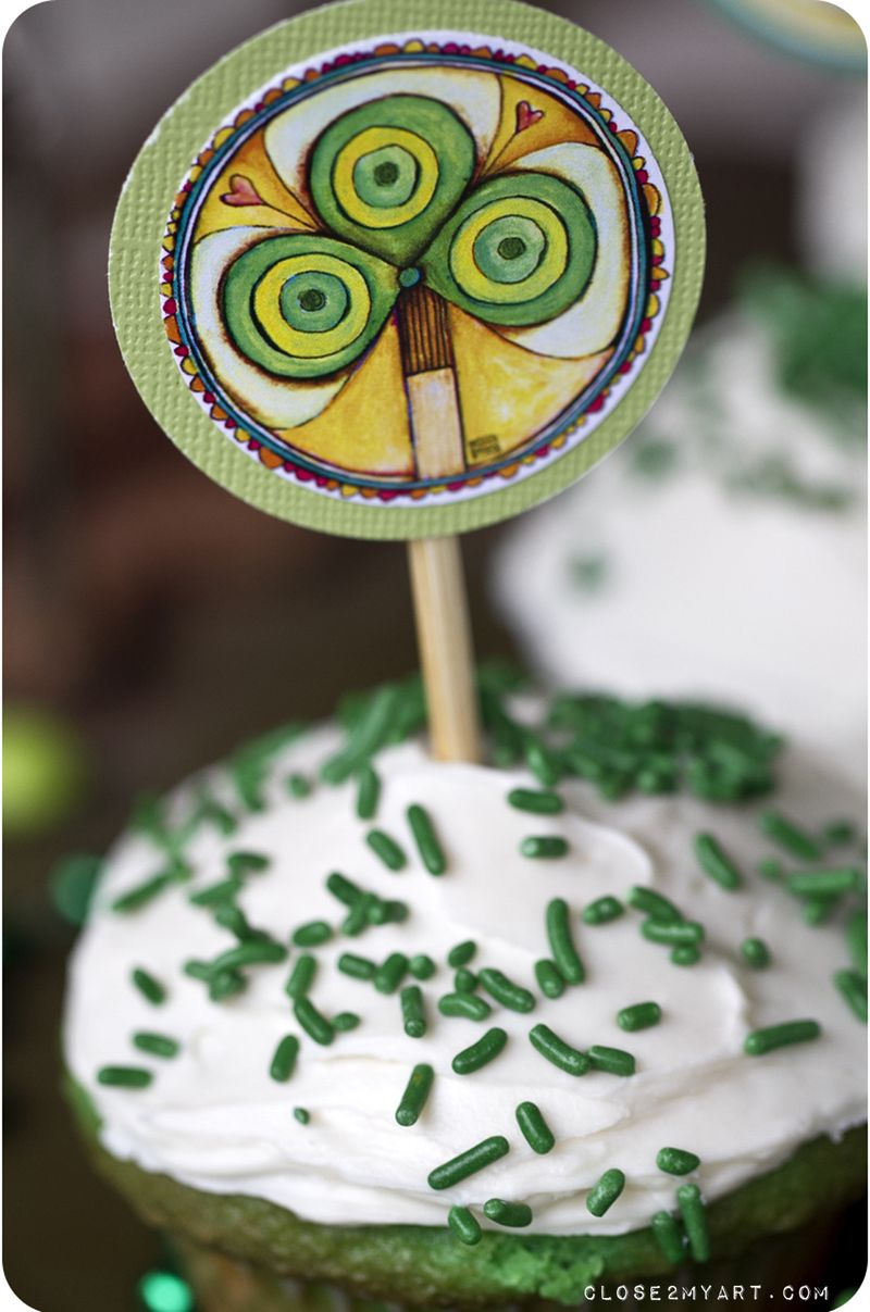 St. patricks day cupcake party