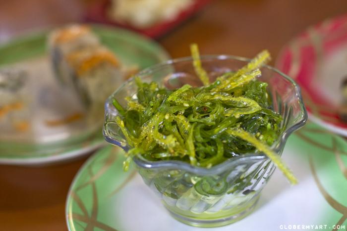 Seaweed salad sushi bar