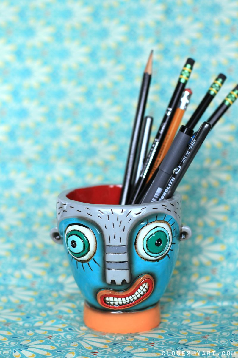 Pencil cup allen designs born to laugh