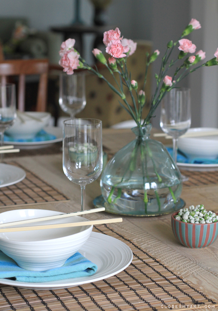 Dinner party table setting simple & michelle my belle: little dinner party u0026 table setting