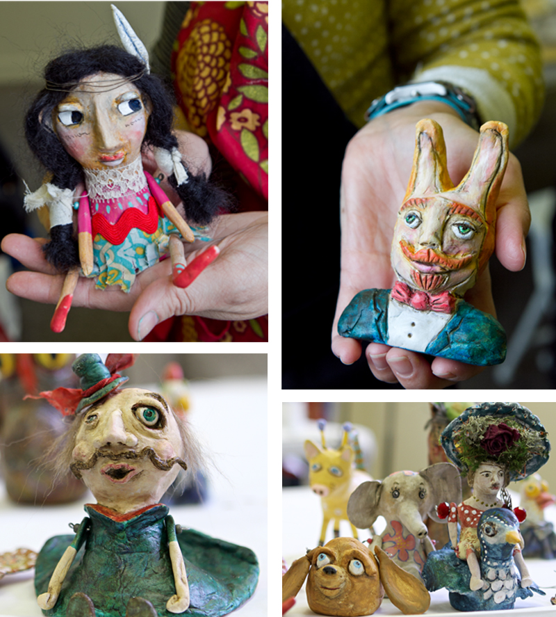 Funky art dolls workshop artist create