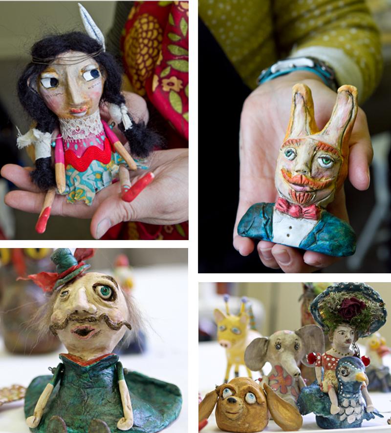Funky art dolls workshop artist create