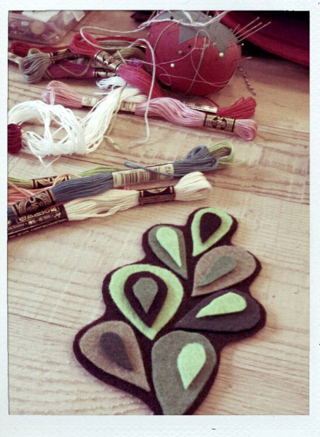 Stitching crafting playing felt art