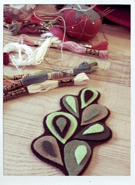 Stitching crafting playing felt art