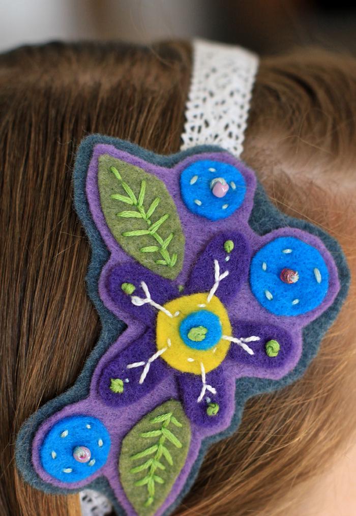 Diy headband felt stitch craft