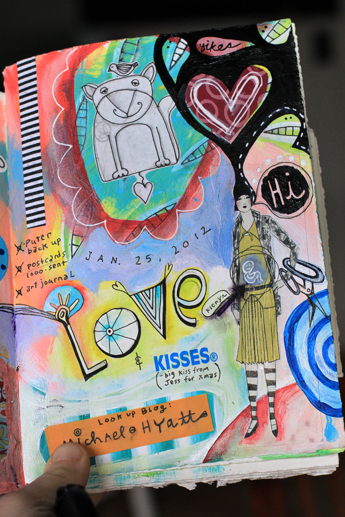 Michelle allen artist art journal