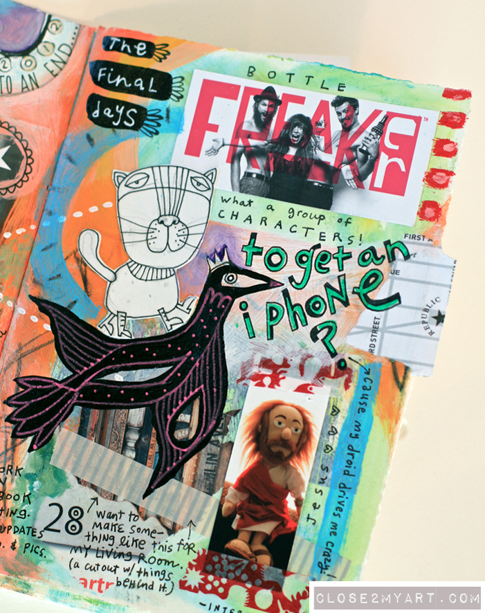 Art journaling creative colorful crazy