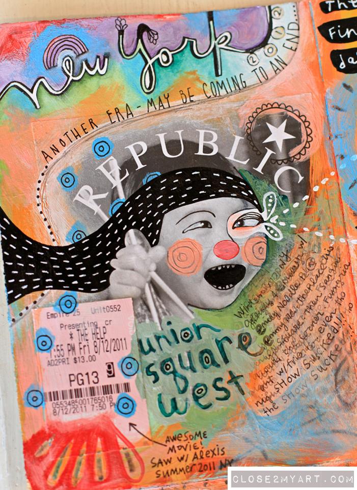 Art journal page visual journaling