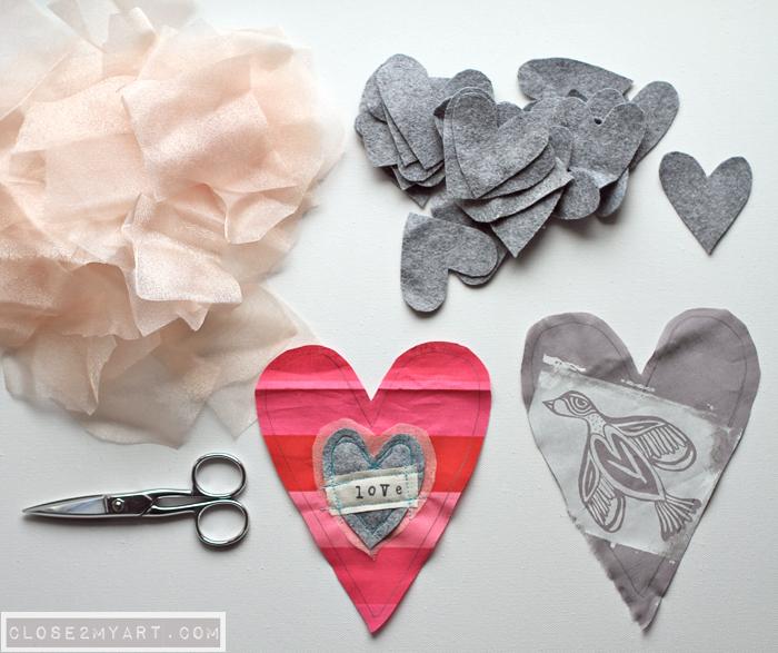Heart art valentines day diy craft