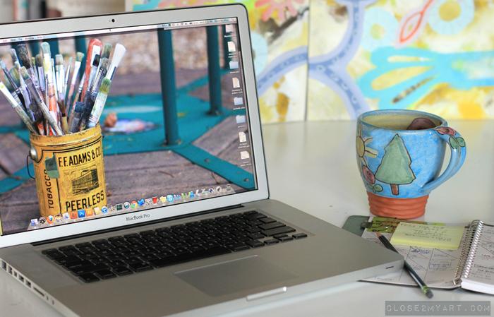 New computer macbook pro artist michelle allen