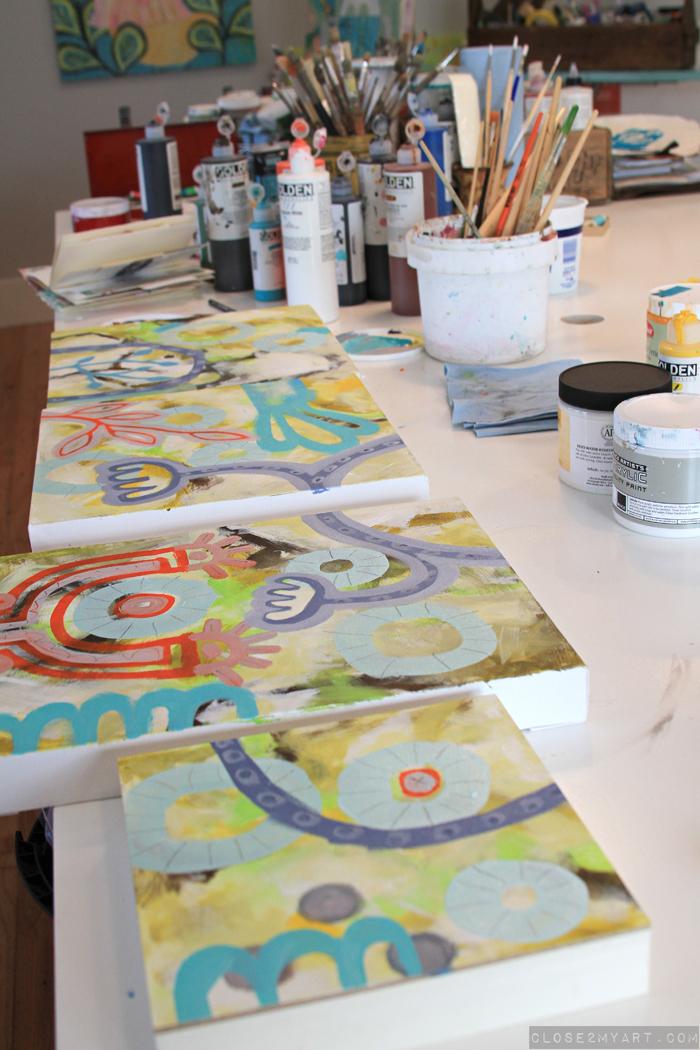 Artist michelle allen vancouver portland studio