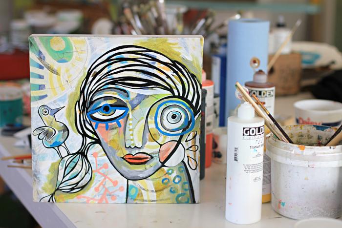 Painting girl michelle allen artist allen designs