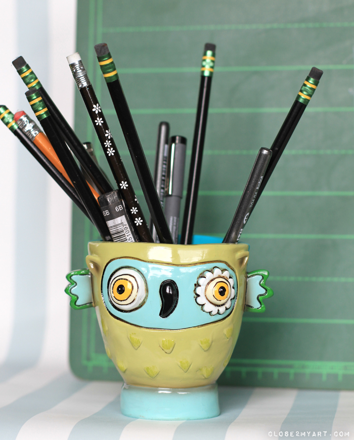Owl art gift allen designs aqua
