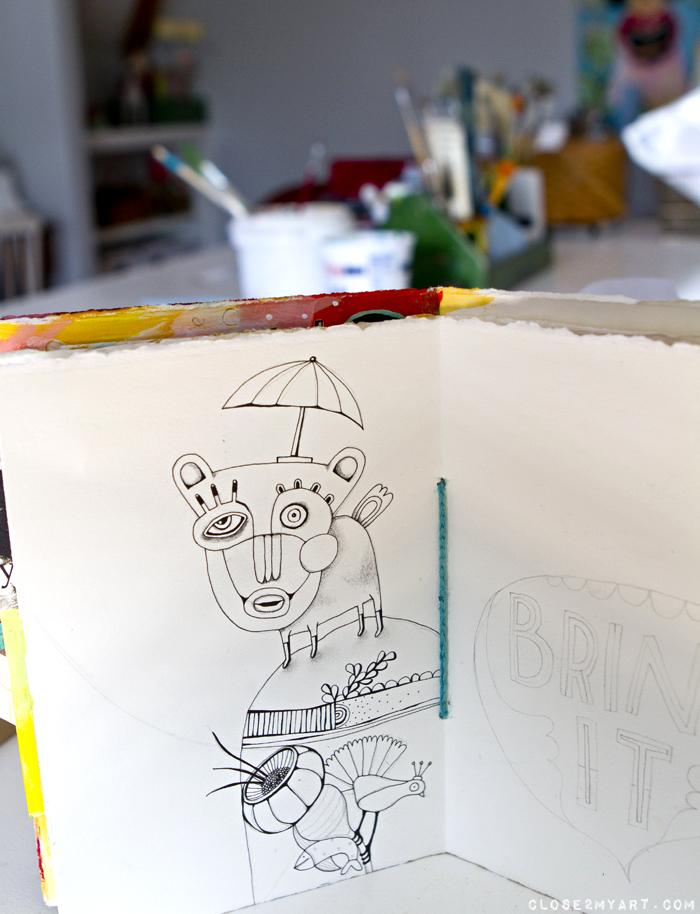 Artist doodles sketches michelle allen