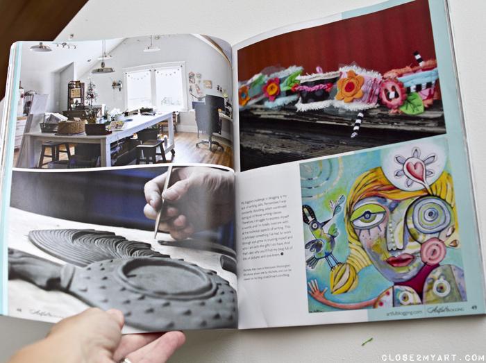 Artist studio artful blogging art